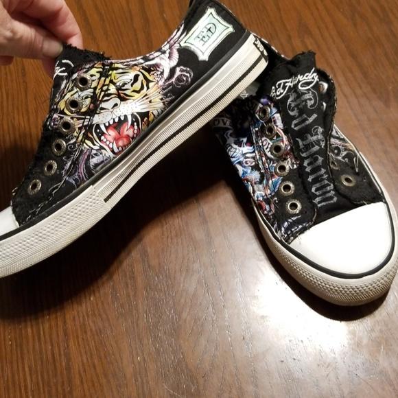 Ed Hardy tiger sugar skull sneakers Rk:7:818